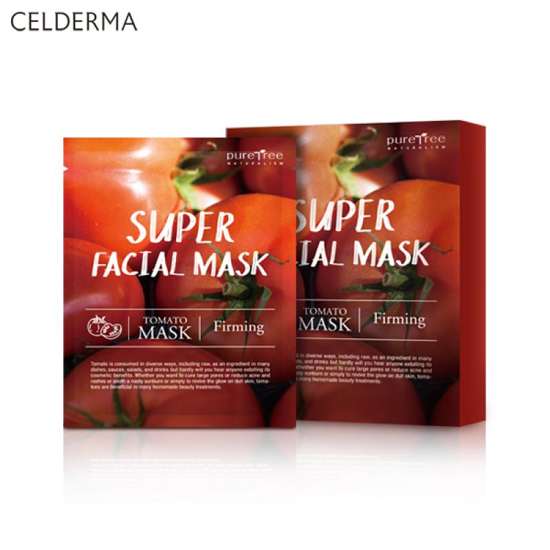 Buy Celderma Puretree Super Facial Masks Tomato Box of 10 Masks Einashop SG Official Srore Singapore