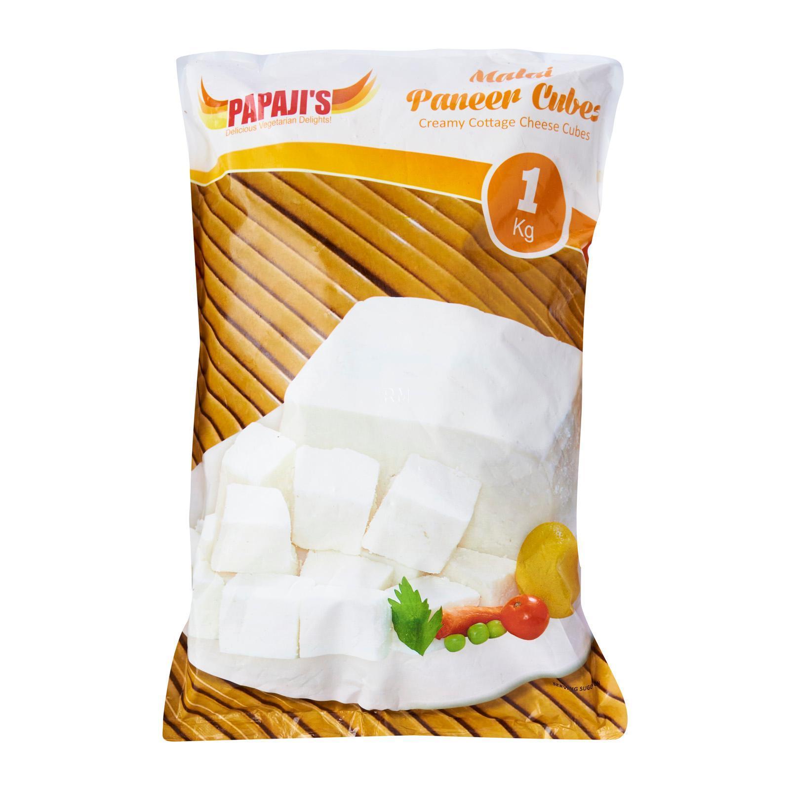 Papajis Malai Paneer Cubes - Frozen By Redmart.