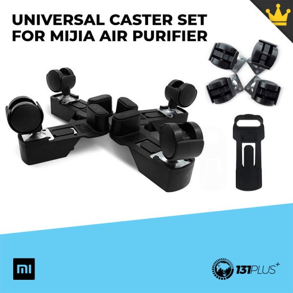 Xiaomi Misou Universal Caster Set For Mijia Air Purifier [ 360° Universal Wheel, Convenient, Wear-Resistant, PP, PA Material, Durable, Easy Install, Flexible, Smooth, For Air Purifier 2, 2S, 3, Pro ] Singapore
