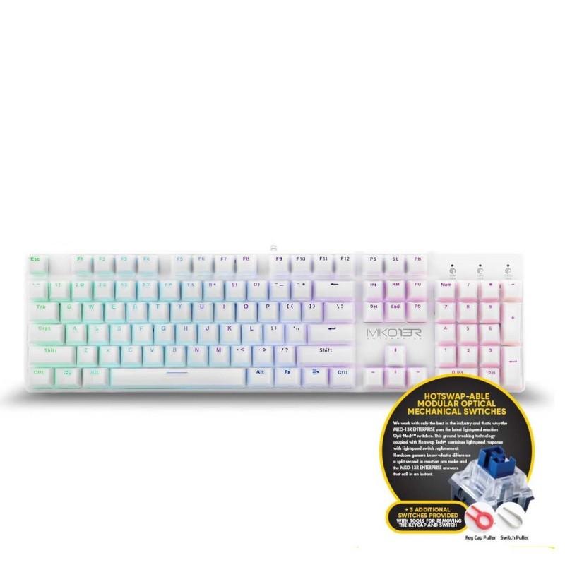 Armaggeddon MKO-13R Customizable Full Size Programmable RGB Optical Blue Switch Mechanical Keyboard Singapore