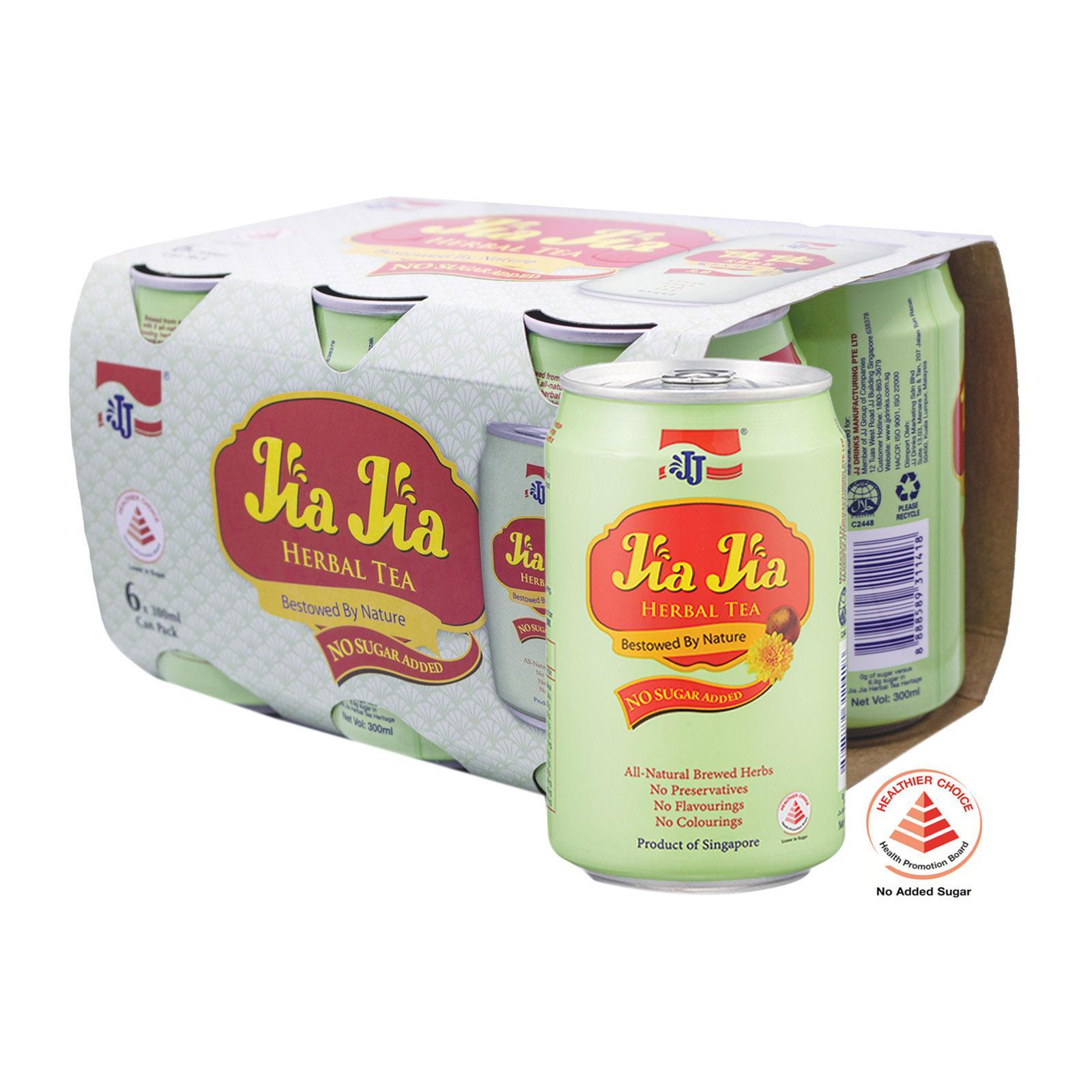 JJ Jia Jia Herbal Tea Less Sugar (6 Pack)