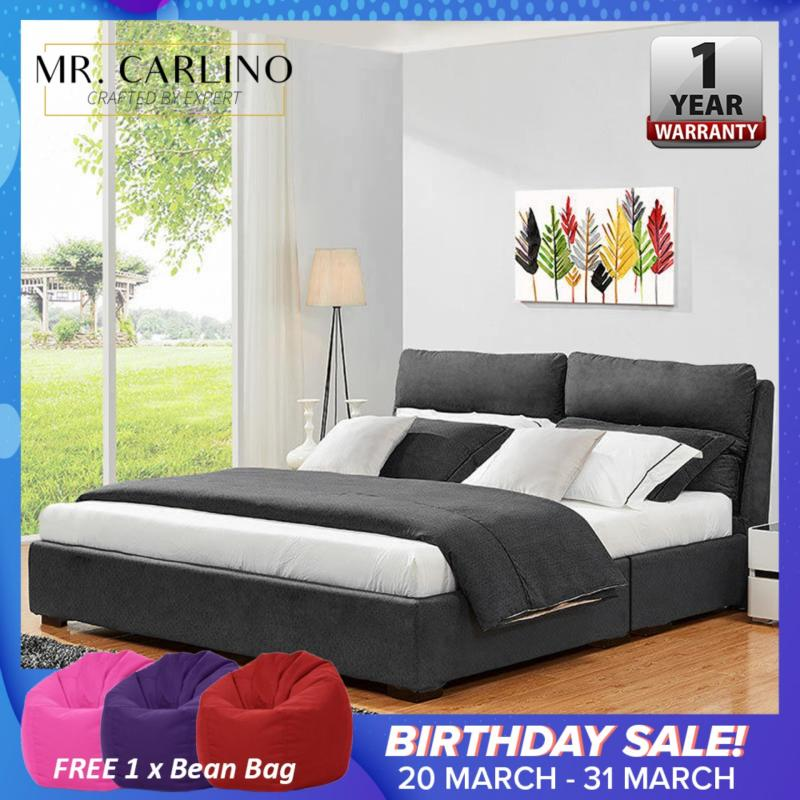 MISHA Divan Queen Size Bed Frame with 3 Years Warranty