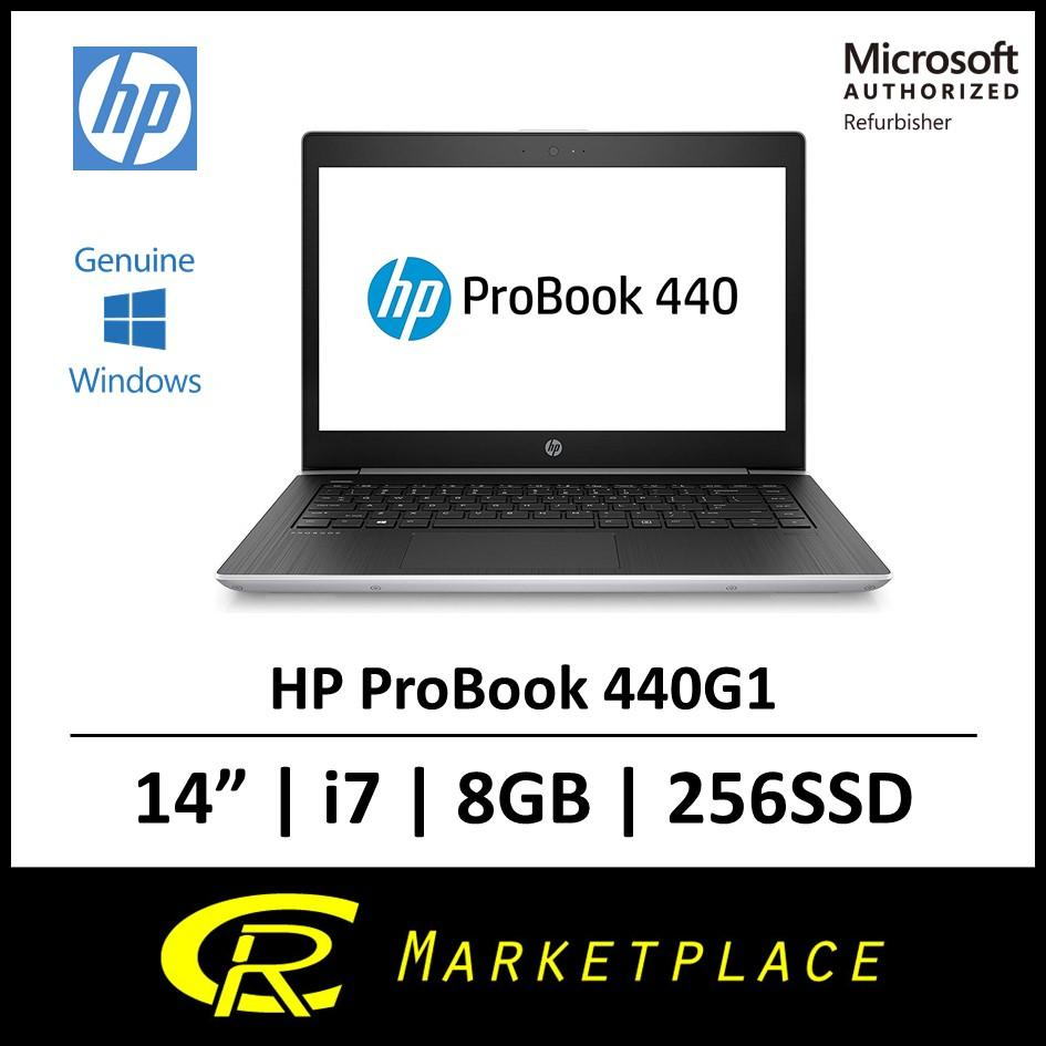 [Microsoft Certified Refurbisher] HP ProBook 440G Intel i7 8GB RAM 256 Solid State Drive