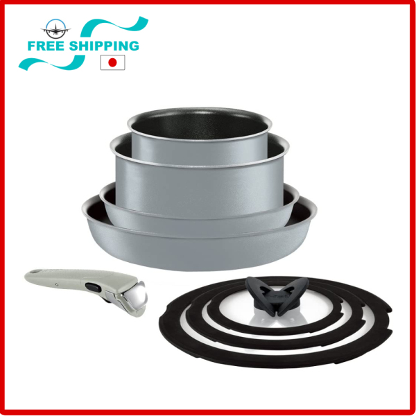 Tefal Premium Frypan 8 items Set IH Induction stove Compatible Ingenio Neo IH Silk Gray Excellence Set 8 Titanium Excellence 6 Layer Coating Singapore