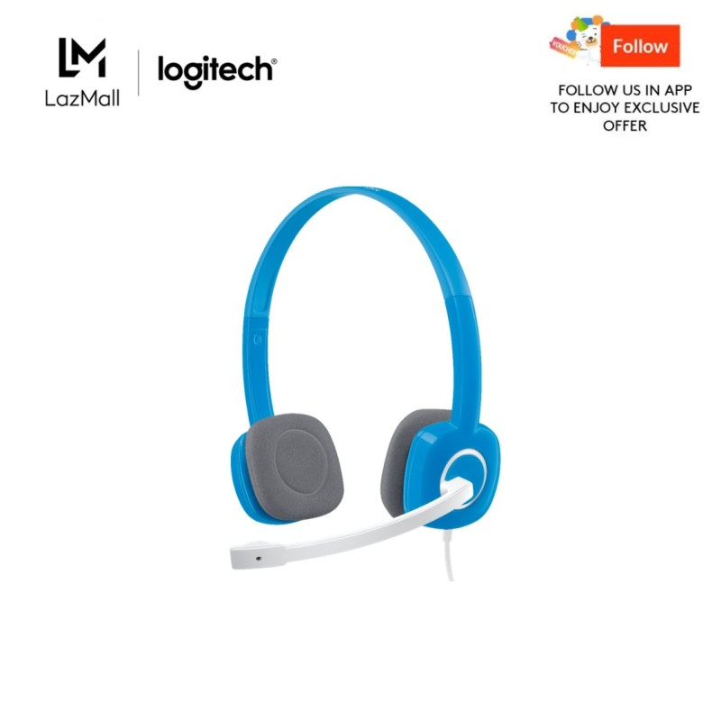 Logitech H150 Sky Blue Stereo Headset Singapore