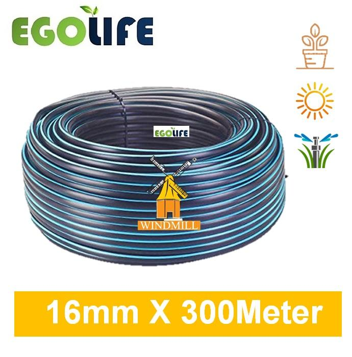 300meter LDPE Low Density Poly Pipe Polypipe Black 16mm (OD) /13mm (ID) for Irrigation System, Windmill Brand, Tubing Hose, PE Pipe