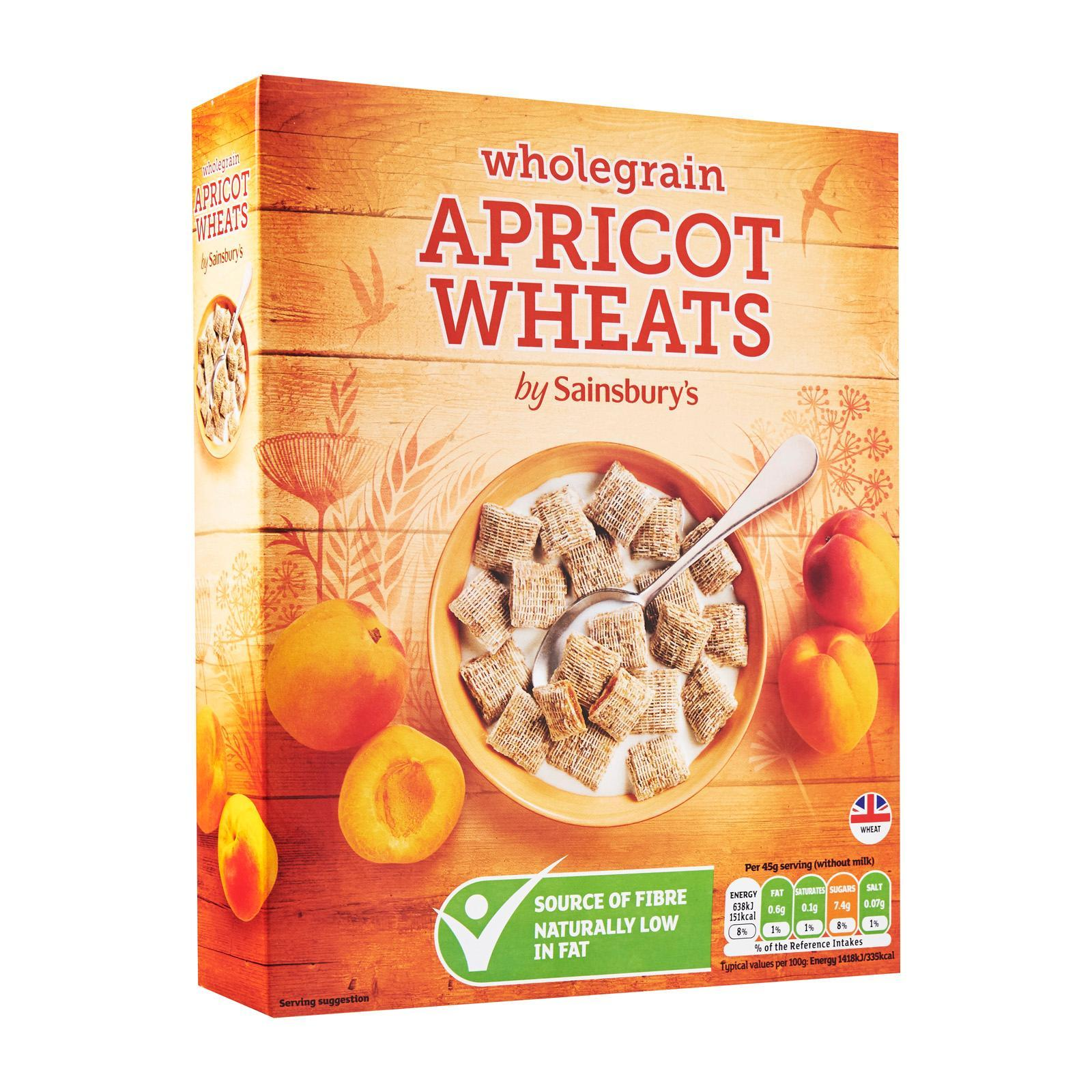 Sainsbury's Wholegrain Apricot Wheats Cereal