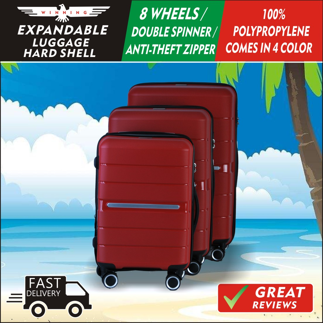 ★WINNING★ THE POLYPROPYLENE EVERYTHING YOU NEED UNDER ONE LUGGAGE
