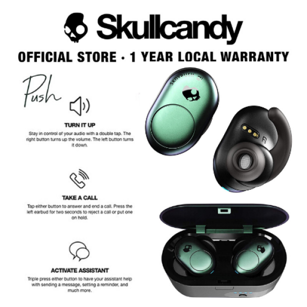 Skullcandy Push True Wireless Bluetooth In-Ear Earbuds (3 Colors Available) Singapore