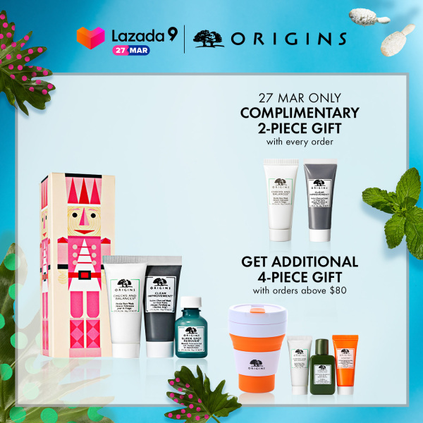Buy [Holiday Special] Origins - 3-pcs Skincare Set with Charcoal Mask, Frothy Face Wash, Blemish Treatment Gel  (worth $49) • Detox with Delight Cleansing, Purifying & Spot-Fighting Trio Set Singapore