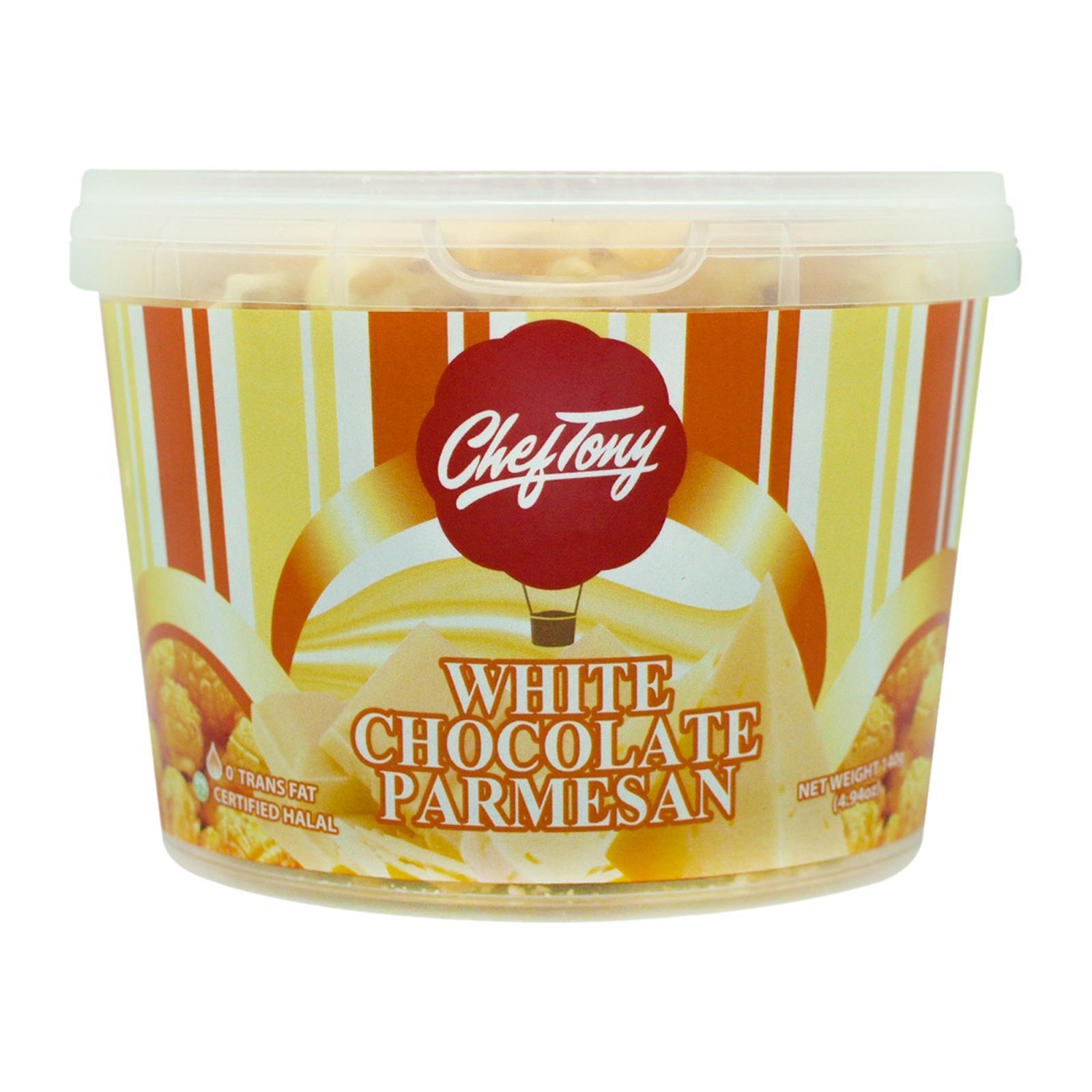 Chef Tony's Gourmet Popcorn White Chocolate Parmesan - Small Tub