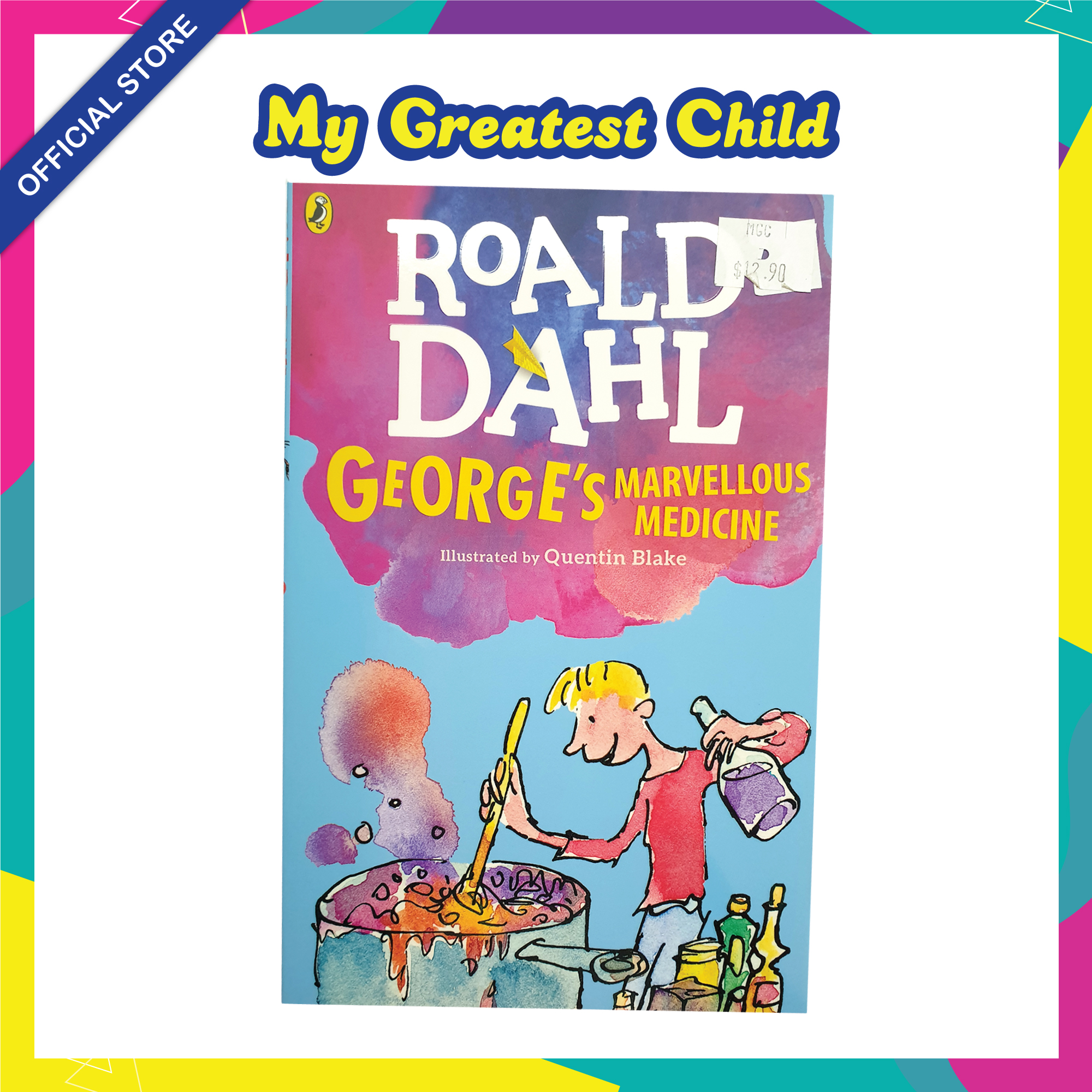 Georges Marvellous Medicine - Roald Dahl English Paperback Childrens Book (For Ages 7+)