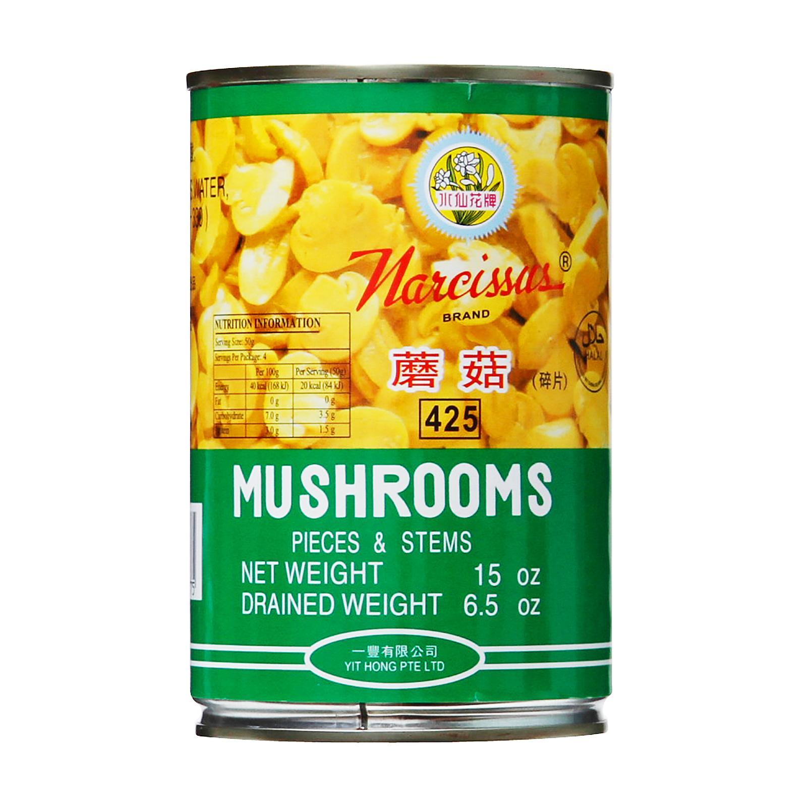 NARCISSUS Mushrooms Pieces & Stem 425g (#)
