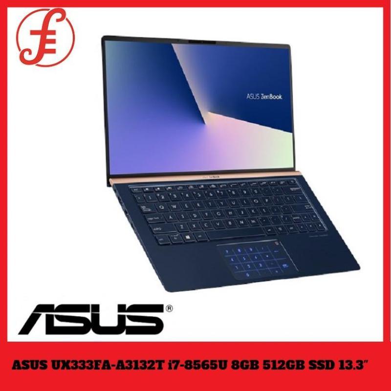 ASUS UX333FA-A3132T Intel Core i7-8565U Processor Windows 10 64bit Ram 8GB/ 512GB PCIe SSD Intel UHD Graphics 620 13.3 FHD LED IPS 1920x1080