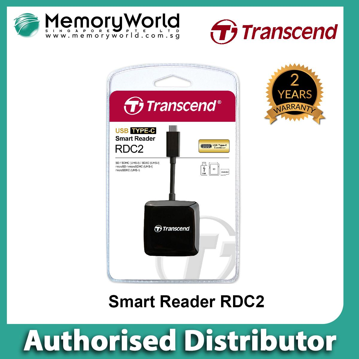 Transcend Smart Reader TS-RDC2K (OTG) - Android / Type-C . Warranty: 2 years. Local Singapore Warranty. **TRANSCEND Authorised Distributor **