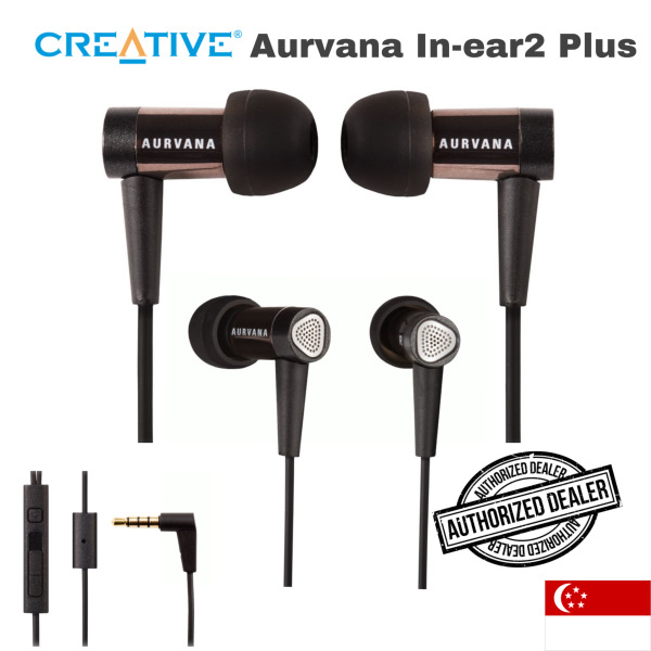 Creative Aurvana in Ear 2 Plus (Factory Pack, SAVE!) Noise-isolating In-ear Headphones with In-line Remote and Microphone Singapore