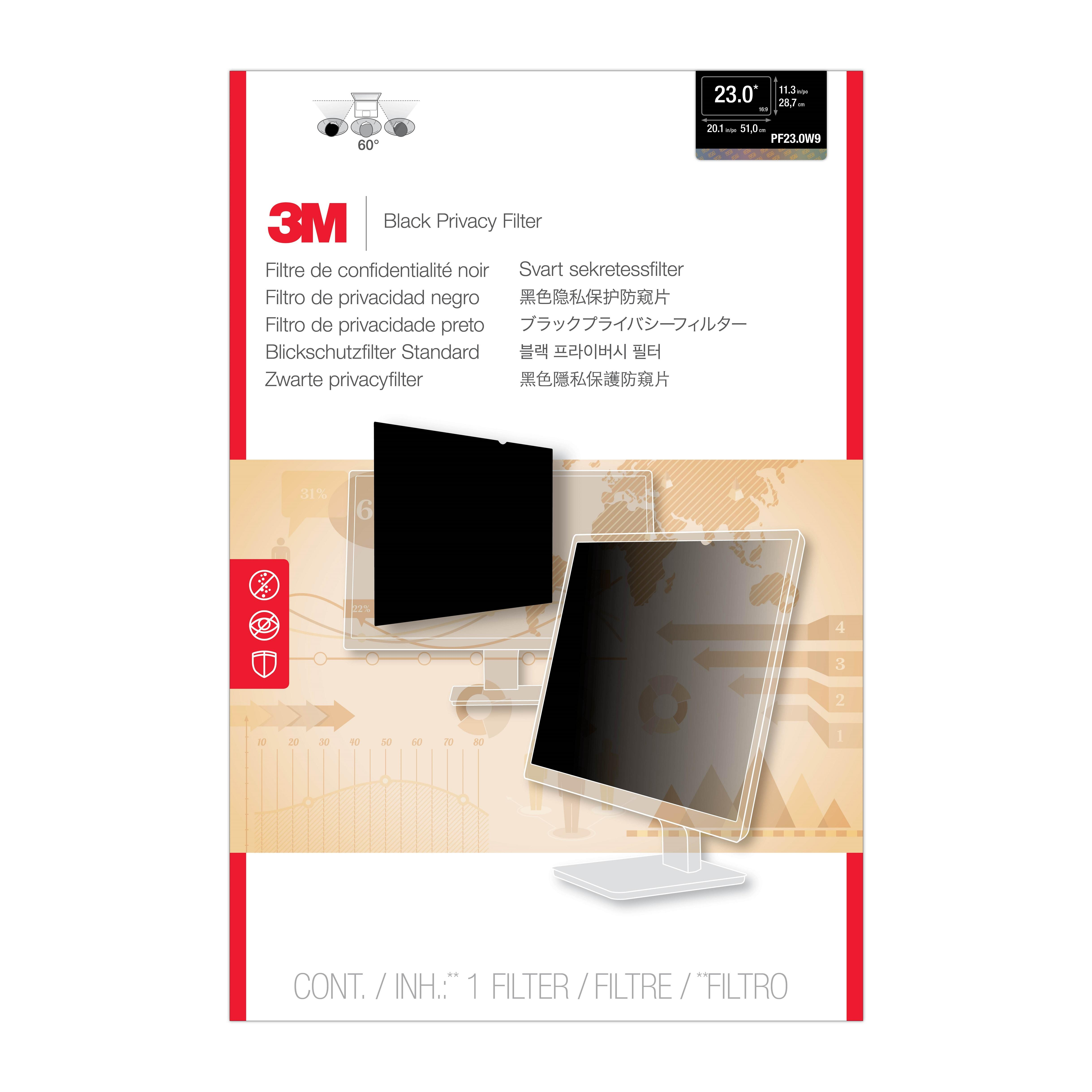3M™ Privacy Filter for 23 Widescreen Monitor (PF230W9B)