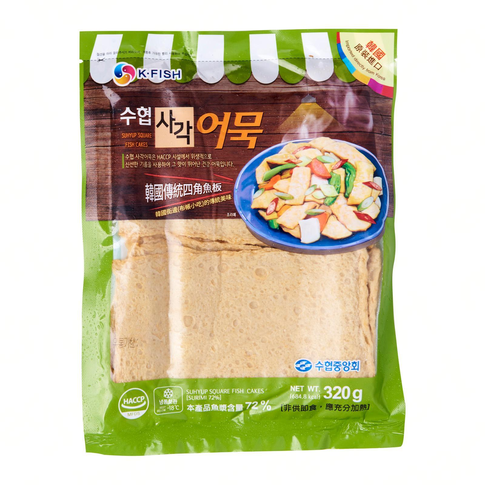 Suhyup Square Korean Fish Cake - Frozen