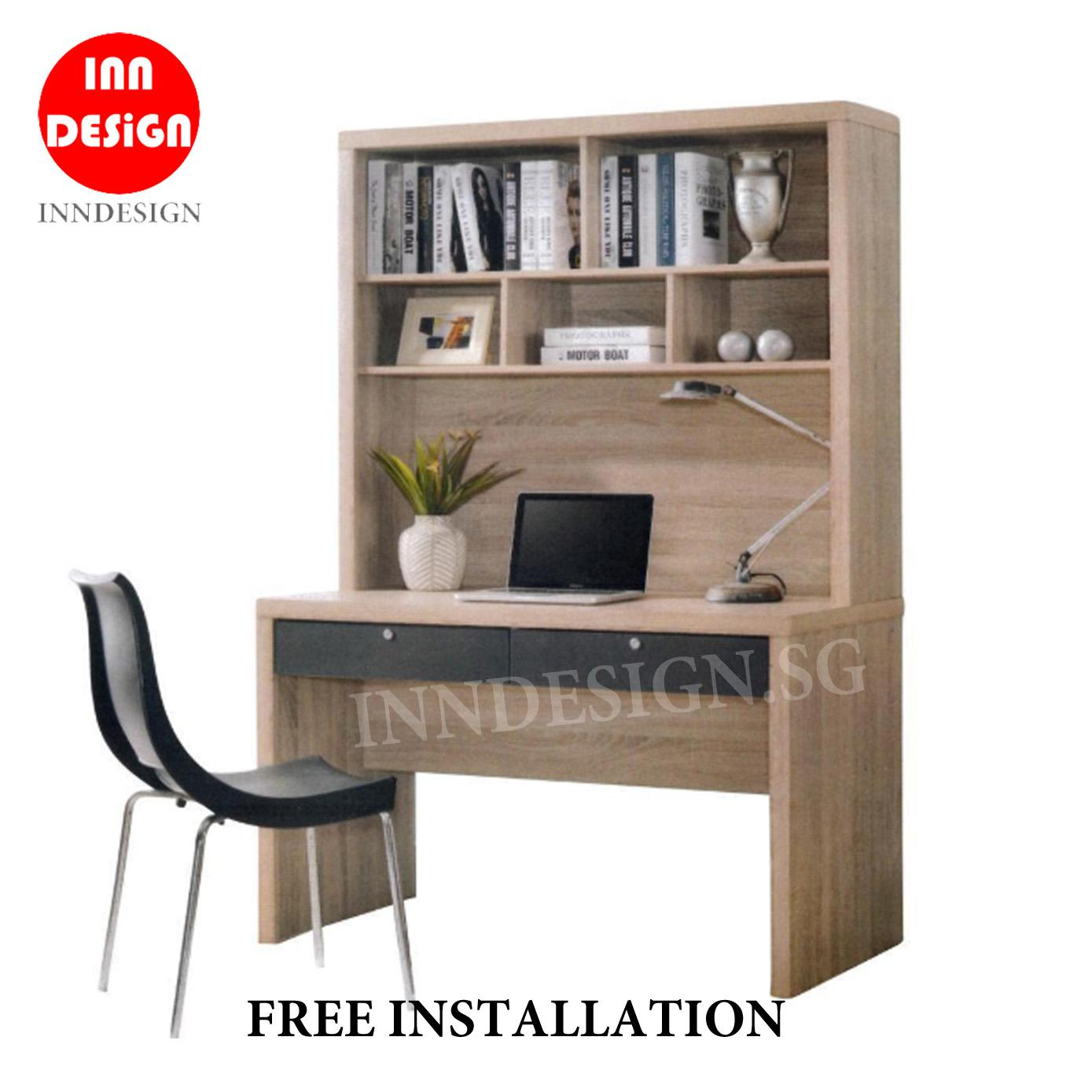 [6 MONTHS WARRANTY] [BEST SELLING] [FREE INSTALLATION] Niro Study Table with Hutch