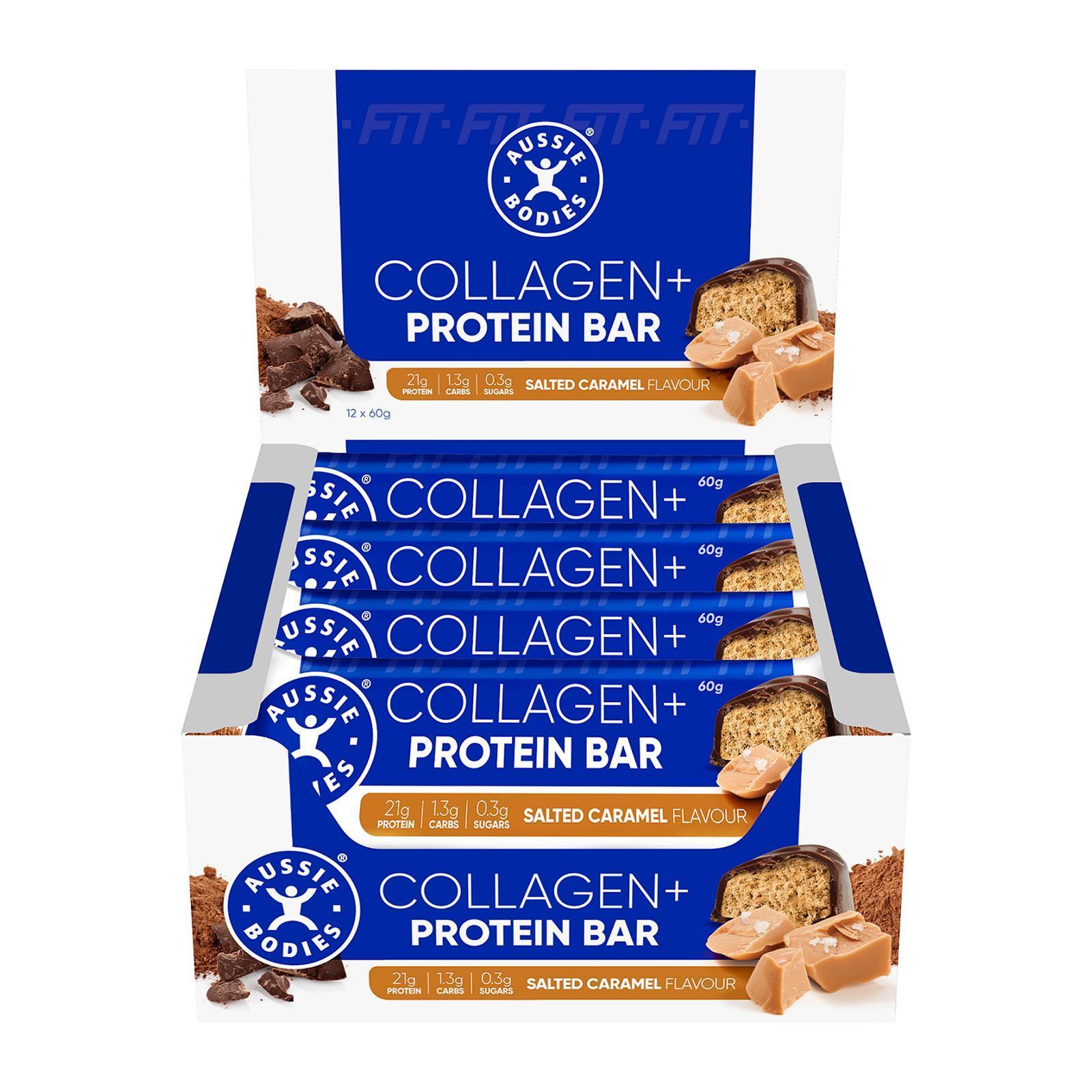 Aussie Bodies Collagen+ Protein Bar (Salted Caramel) - Case