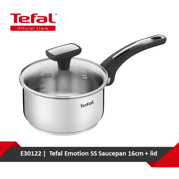 Tefal Emotion SS Saucepan 16cm + lid E30122 Singapore