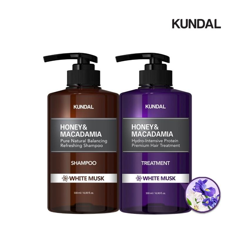 Buy [Bundle of 2] Kundal Premium Perfume Hair Care SET(2ea) Shampoo+Treatment White Musk Singapore