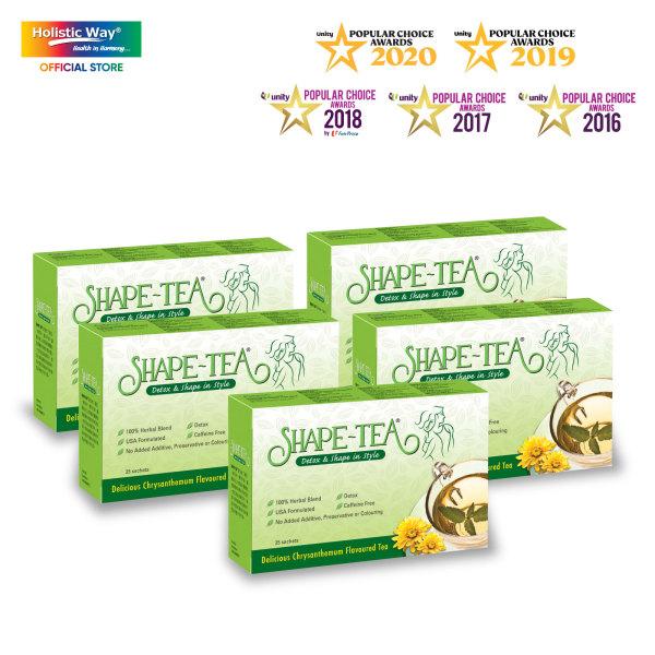 Buy [Bundle of 5] SHAPE TEA® Slimming Tea – Detox And Shape In Style (25 Sachets per box) Singapore