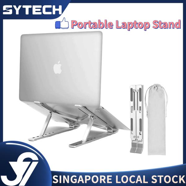 Foldable Portable Laptop Stand, Slim Desktop Notebook Holder Riser, Aluminium Adjustable Eye-Level Ergonomic Height Compatible