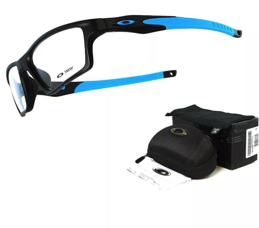 9c79853da2 Oakley Crosslink Sweep Asian Fit Prescription Glasses OX8033 Satin Black  Sky Blue Imported from Japan Eyewear