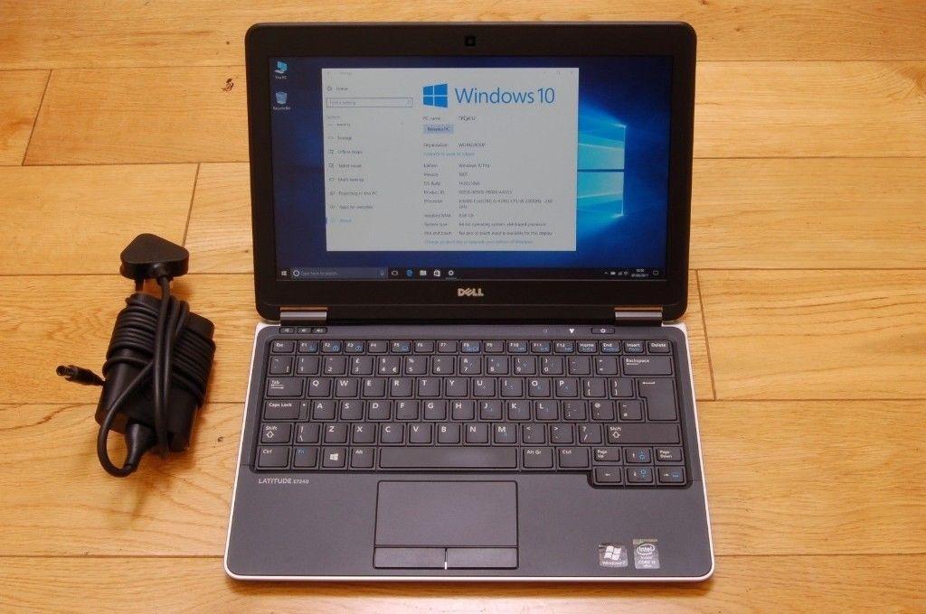 Dell Latitude E7240 / Core i5/ 8GB Ram/ 256GB SSD/ Windows 10/ Ms Office