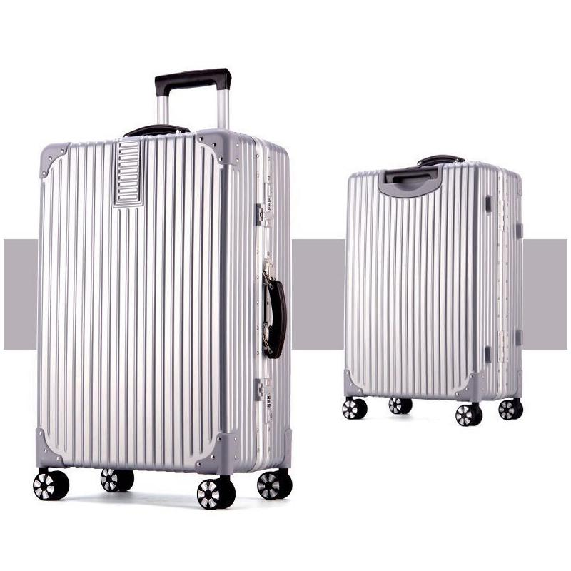 Aluminium Framed Shiny Surface Light Weight Luggage Rivets Reinforced Corner Suitcases 360 Degree Spinning Wheels Tsa Lock By Ryan&rayla.
