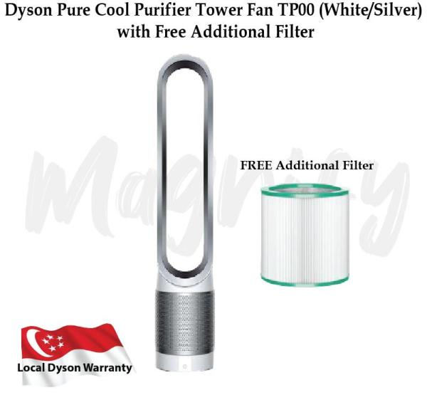 Dyson Pure Cool Purifier Tower Fan TP00 (White/Silver) with Free Additional Filter Singapore