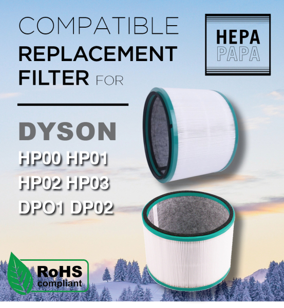 Dyson HP00, HP01, HP02, HP03, DP01, DP02 Compatible Replacement Filter [Free Alcohol Swab] [SG Seller] [7 Days Warranty] [HEPAPAPA] Singapore
