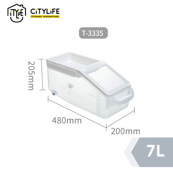 Citylife - Rice Container with Sliding Lid 7L /12L