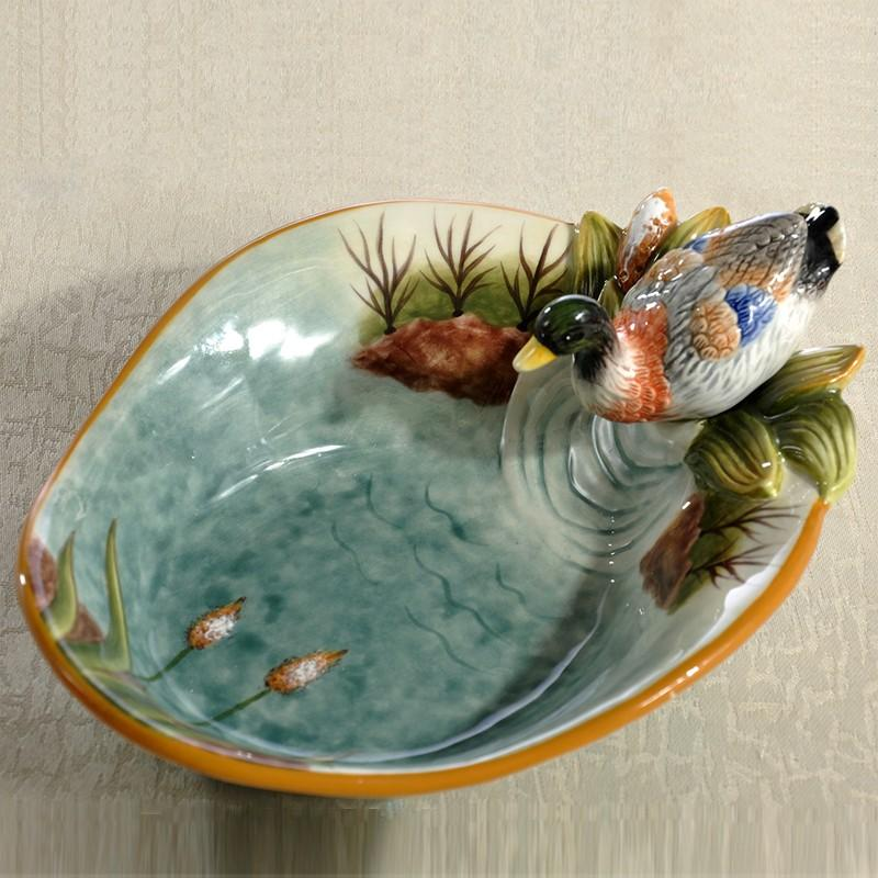 Poolside Series Storage Small Porcelain Bowl Characteristics Craft Ceramic Fruit Bowl Soap Key Storage Bowl Delicacy 58 Gift