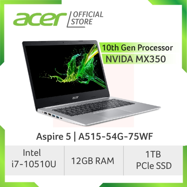 Acer Aspire 5 A515-54G-75WF Laptop with LATEST 10th Gen Intel Core i7-10510U Processor and 12GB RAM