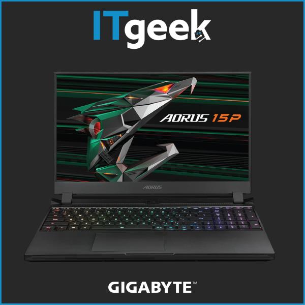 (2-HRS) Gigabyte AORUS 15P (RTX 30 Series) 15.6 240Hz FHDIntel i7-10800HRTX 3080 MAX-Q8GB GDDR62*8GB 3200MHz1TB NVMe PCIe Gen4Win 10 Home Gaming Laptop