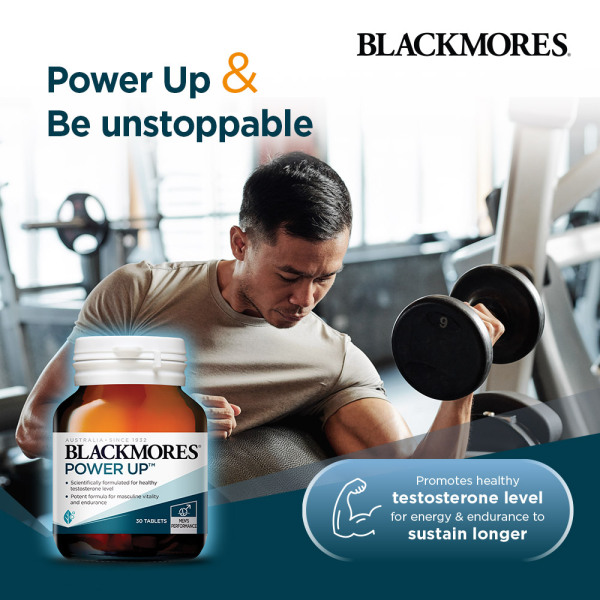 Buy Blackmores Power Up Testoterone Booster 30 tabs [1-Month Supply] Singapore