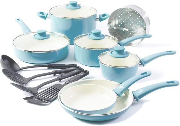 Greenlife Induction ceramic nonstick 15pc cookware Singapore
