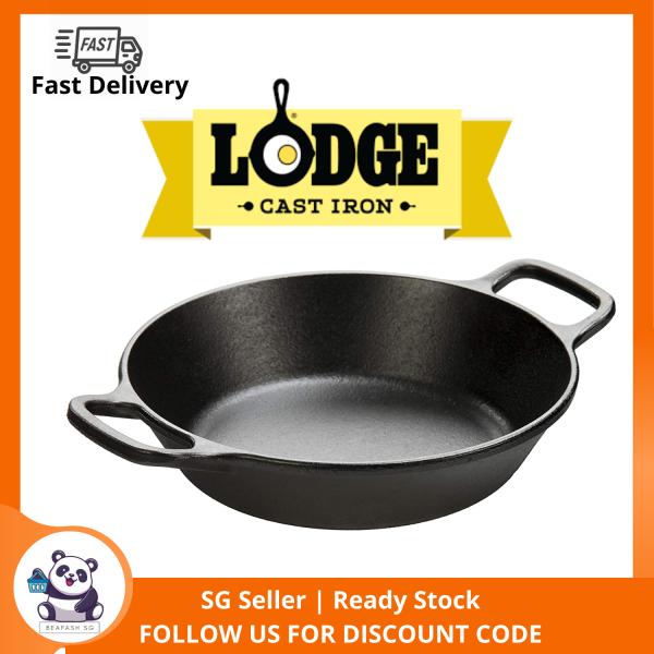 LODGE 8 Inch Round Cast Iron Pan w/ Loop Handles Singapore