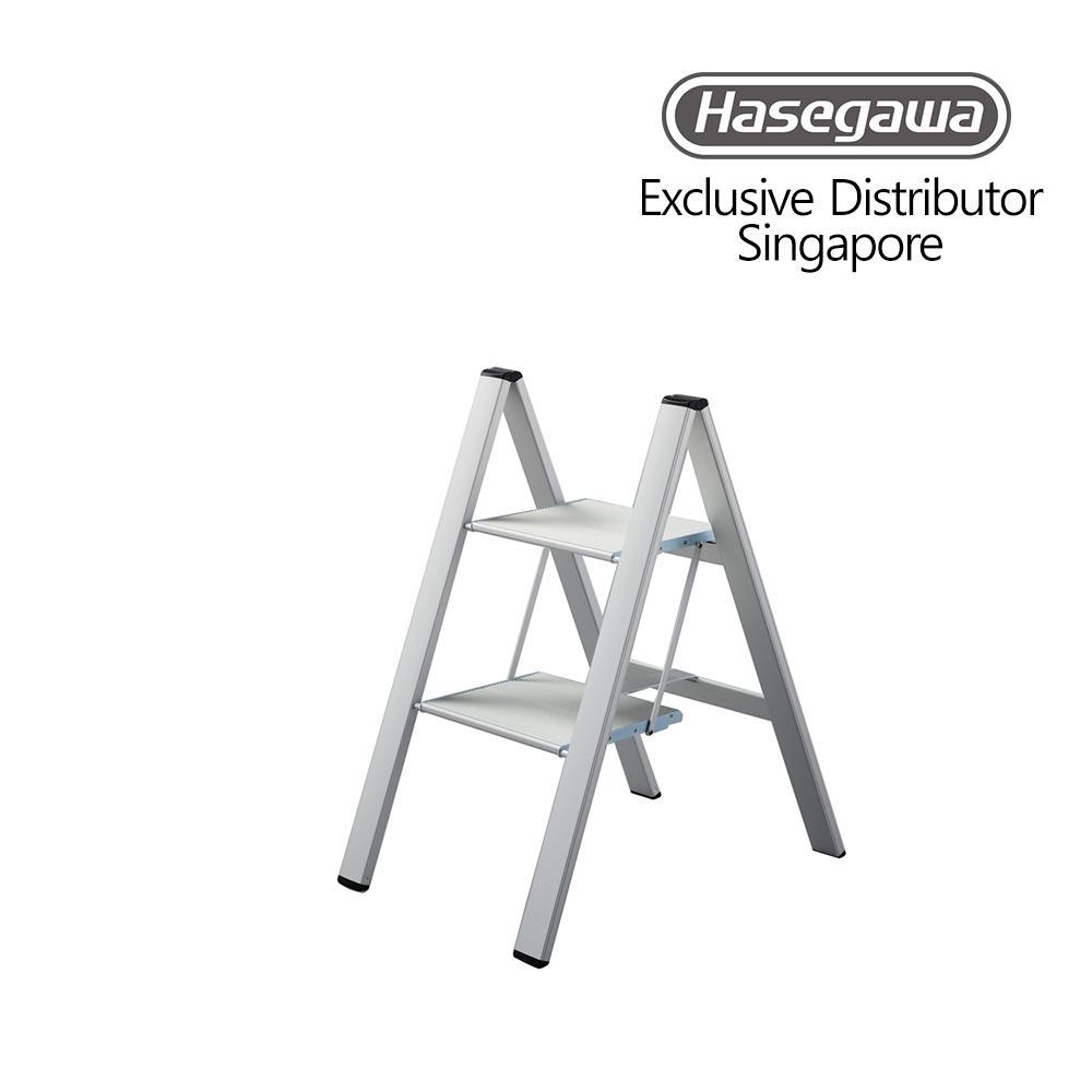 Hasegawa Lucano Boutique Slim Step Aluminium 2 Stepstool (Household Ladder)