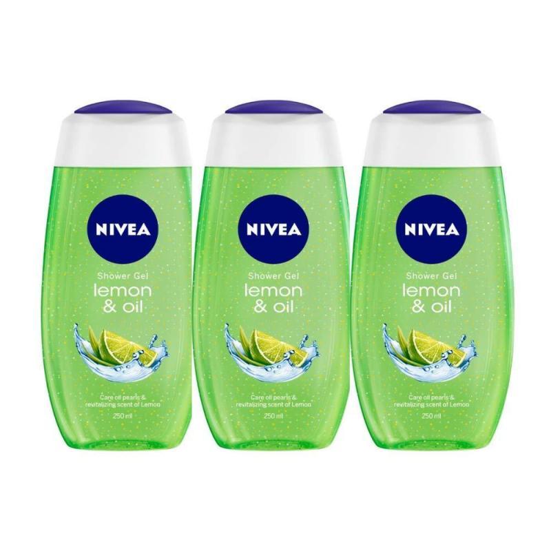 Buy Nivea Lemon and Oil Shower Gel, 250ml (Pack of 3) Singapore
