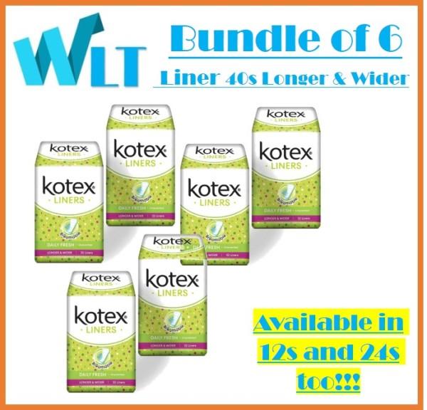 Buy [Bundle of 6] Kotex Fresh Liners Longer & Wider Unscented 32s Singapore