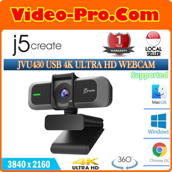 j5 Create JVCU430 USB 4K ULTRA HD Webcam