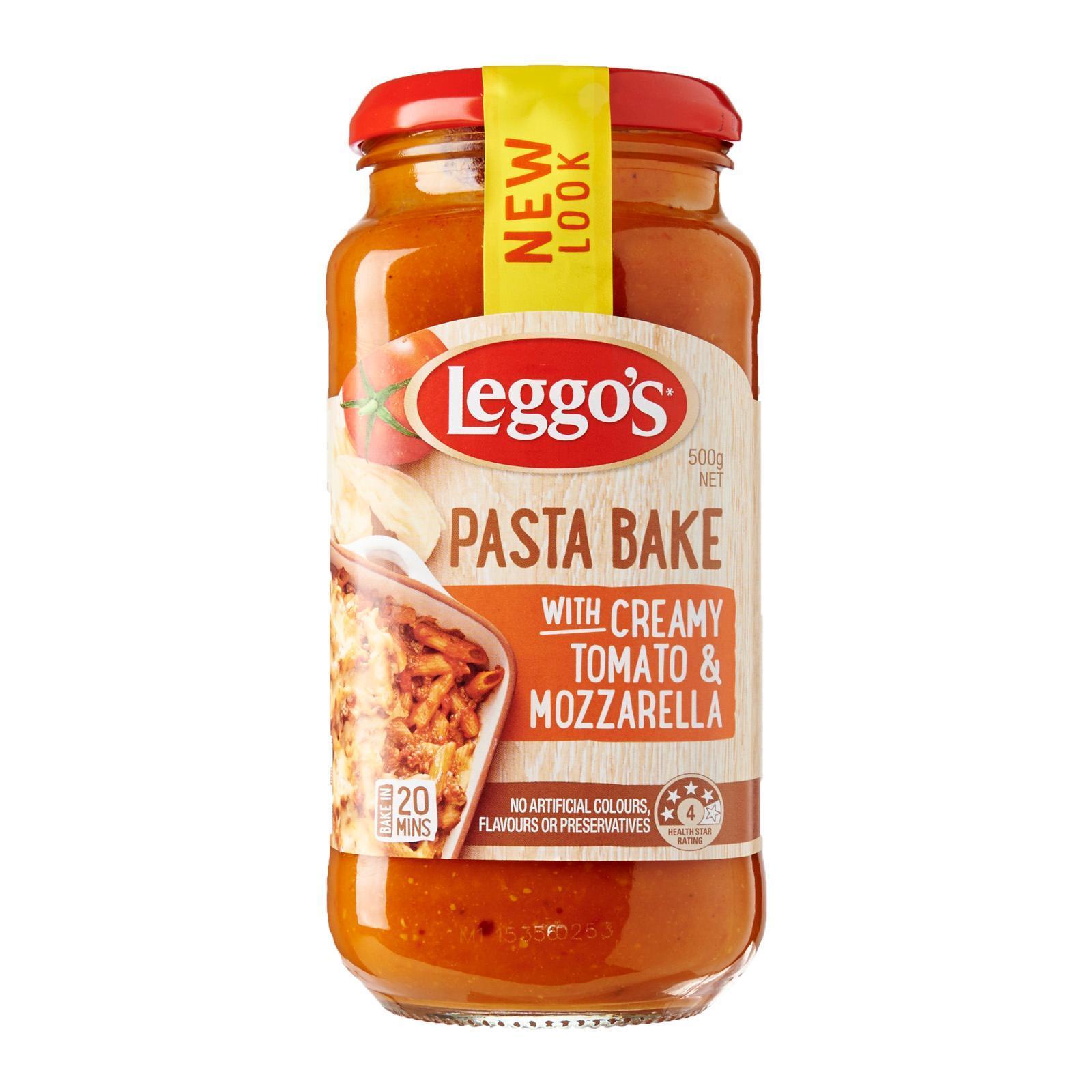 Leggo's Creamy Tomato And Mozzarella Pasta Bake Sauce