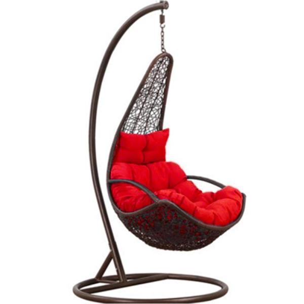 JIJI Moon Shape Swing Chair (Outdoor Seating / Swing Chair) with cushions (Free Installation) - Balcony Swing chair/Relax Chair/ Lounge Chair/ Furniture (SG) Free Delivery