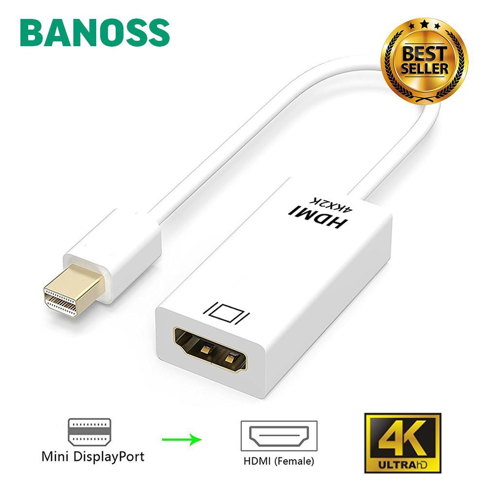 BANOSS DPHD5 Mini DisplayPort To HDMI Adapter Cable Mini Display Port DP  MiniDP Converter Switch Thunderbolt For Apple Macbook Pro Air