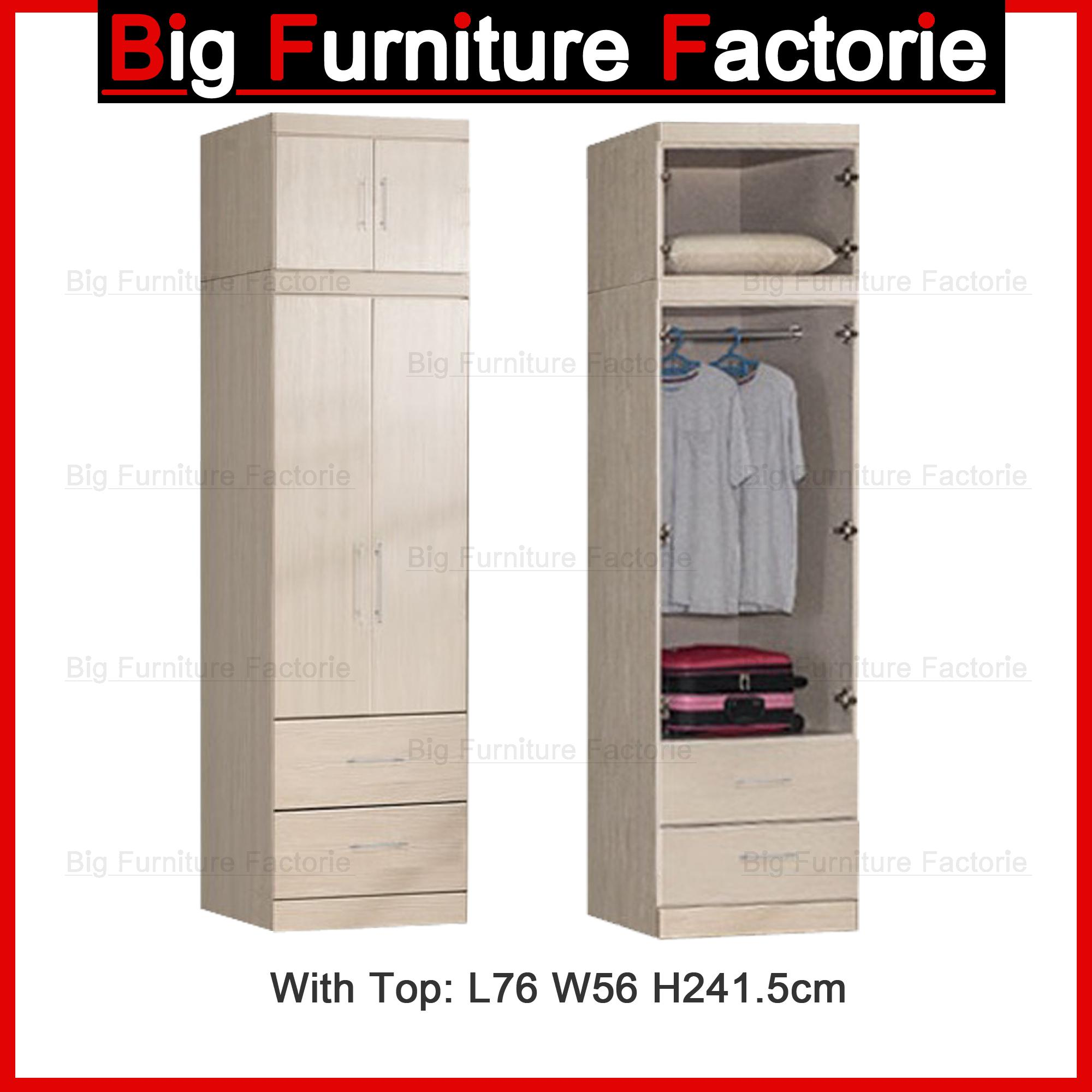 BFF-A2D Two Door Wardrobe with Top