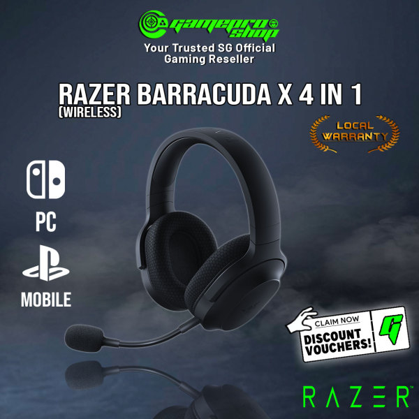 NEW Razer Barracuda X 4 in 1 Wireless Gaming Headset (Support Mobile/Switch/PS5/PC) RZ04-03800100-R3M1 (2Y)