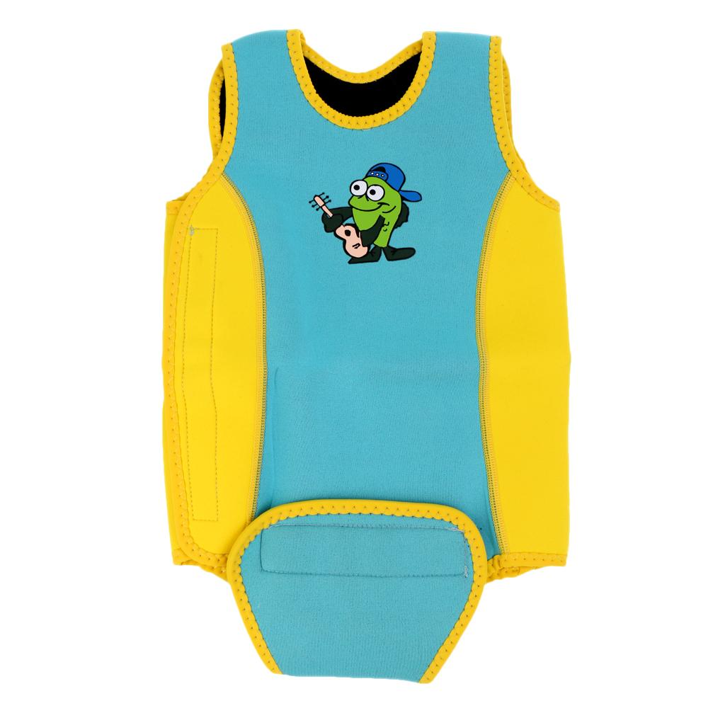 2.5mm Neoprene Baby Toddler Child Swim Wetsuit Wrap Swimwear M Yellow Blue By Magideal.